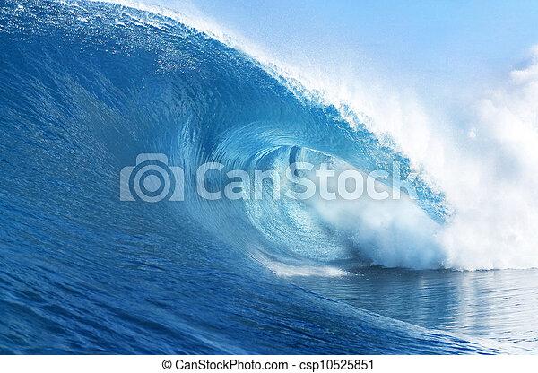 Blue Ocean Wave - csp10525851