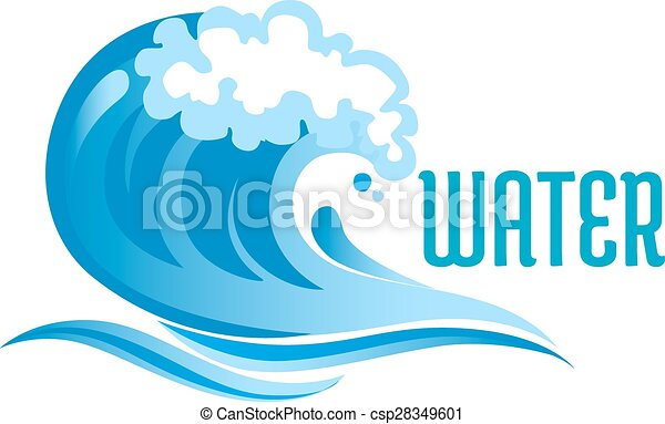 blue ocean wave with foam bubbles and surf isolated on white rh canstockphoto com ocean wave vector black ocean wave vector graphic