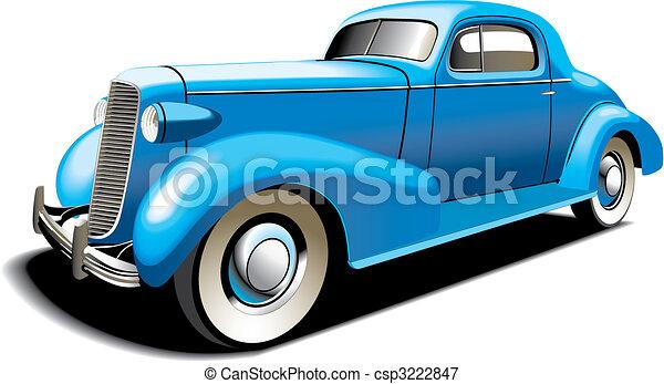 Blue Old Car - csp3222847