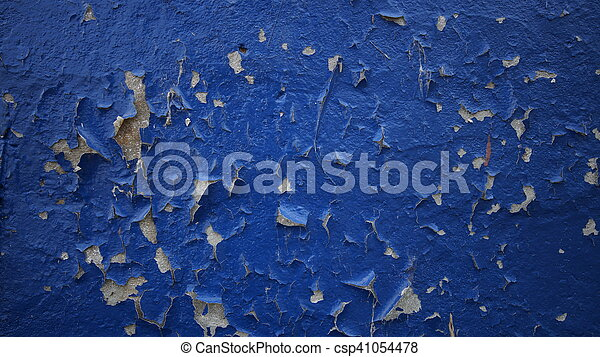 blue old wall - csp41054478