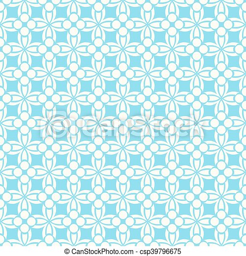 Blue ornament seamless pattern - csp39796675
