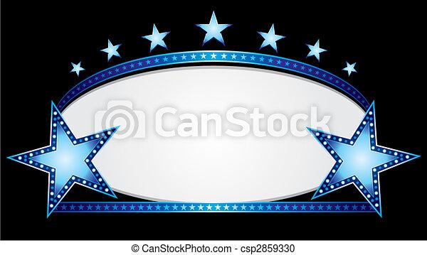 Blue oval - csp2859330