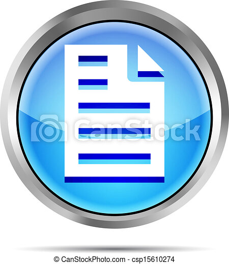 blue page icon on white background - csp15610274