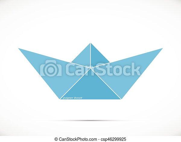 Blue Paper Boat Logo