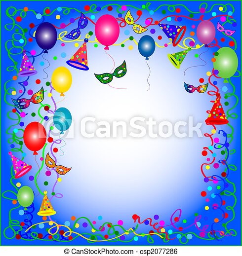 blue party and carnival background - csp2077286