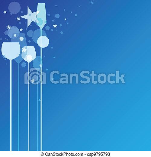 Blue Party Glasses - csp9795793