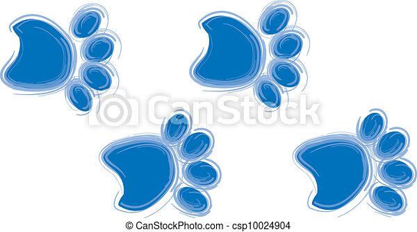 Blue Paw Prints Dog Print Design