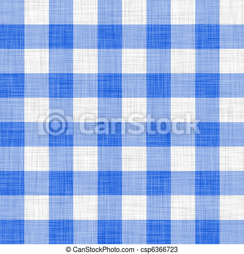 blue picnic cloth  - csp6366723