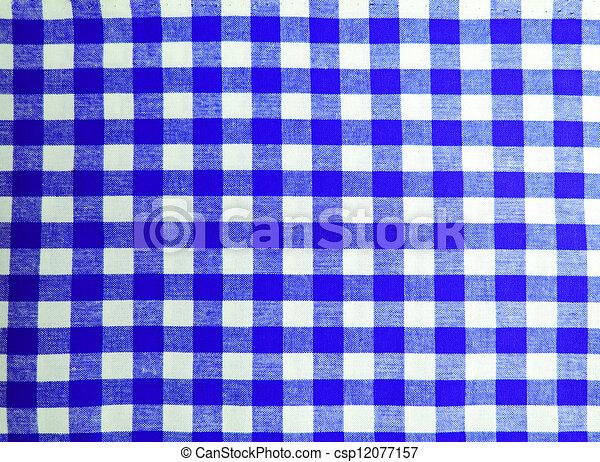 Blue picnic cloth - csp12077157