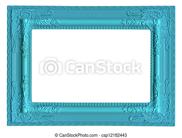 blue picture frame - csp12182443