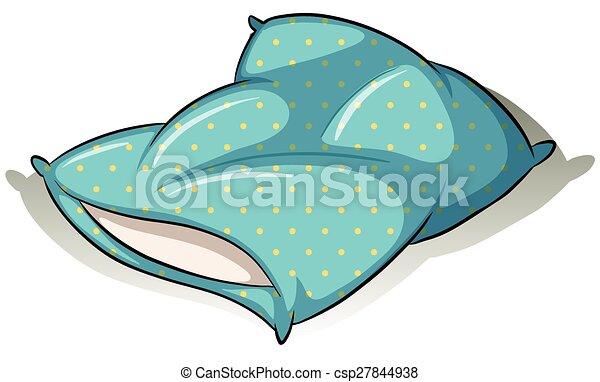 Blue pillow - csp27844938