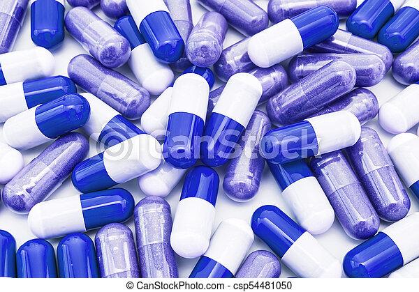 Blue pills - csp54481050
