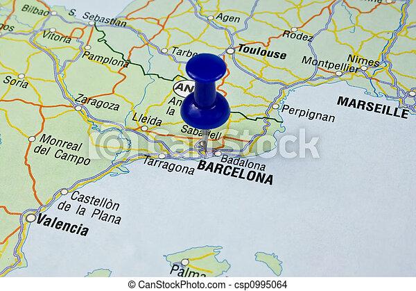 Barcelona Terkep Es Utvonaltervezo Europa Terkepek
