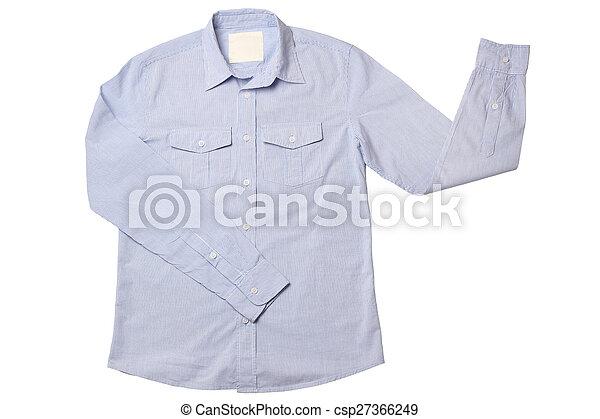 Blue pinstriped dress shirt - csp27366249