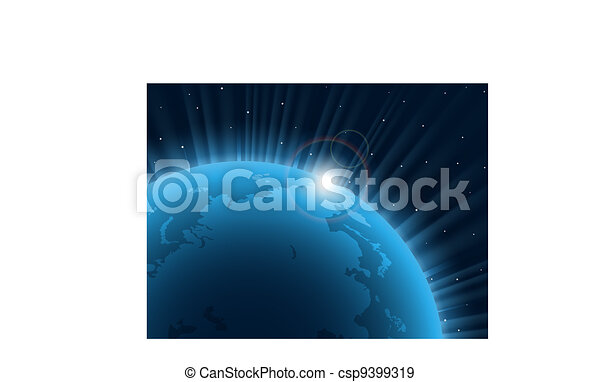 Blue planet.  - csp9399319