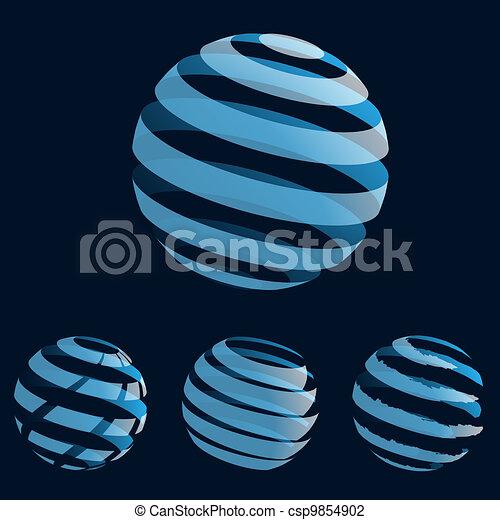 Blue planet icons - csp9854902