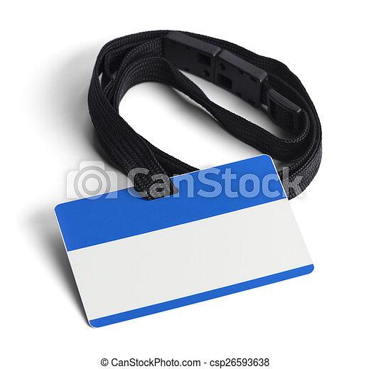Blue Plastic ID Card - csp26593638