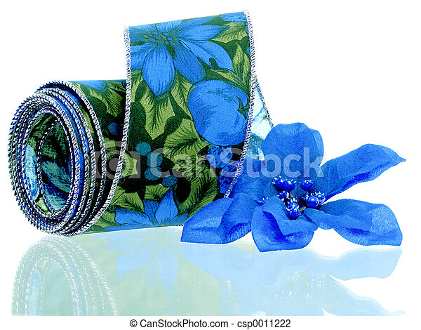 Blue Poinsettia - csp0011222