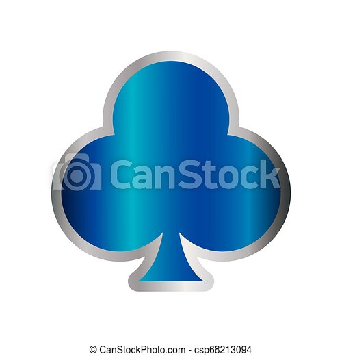 blue poker card club casino symbol - csp68213094