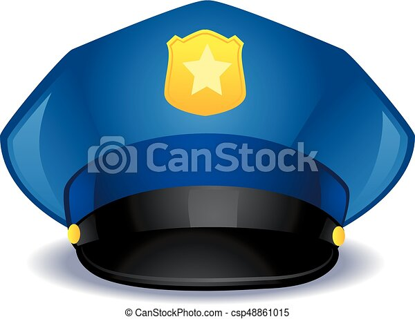 vector illustration of a blue police hat vector clip art search rh canstockphoto ie police cap clipart police hat clipart