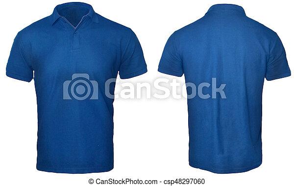 2b9efc7f3 Blue polo shirt mock up. Blank polo shirt mock up template, front ...