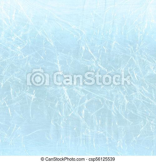 Blue polyethylene backdrop. Blue cellophane packaging - csp56125539