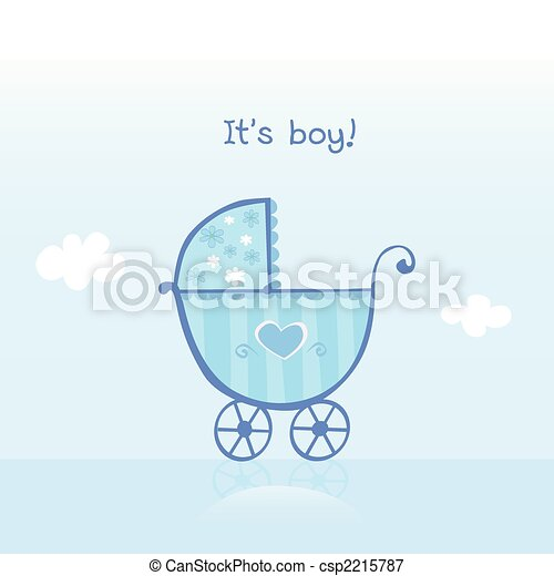Blue pram for boy - csp2215787