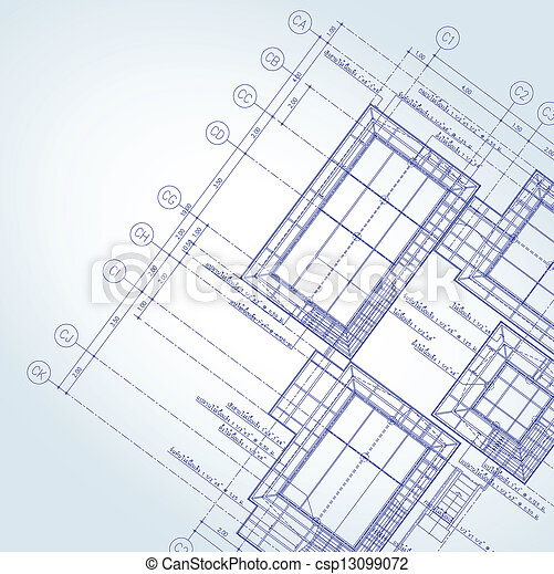 Blue print architect - csp13099072