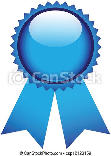 Blue prize ribbon - csp12123159