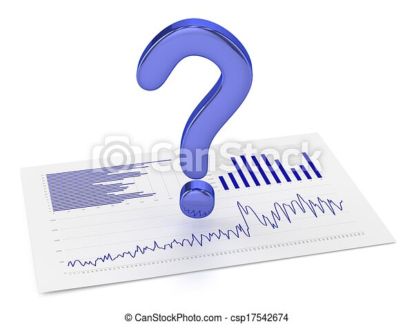 Blue Question Point and Charts - csp17542674