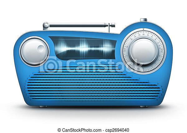 Blue Radio - csp2694040