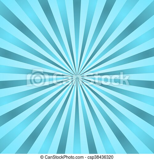 Blue Rays Poster Star Burst