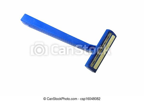 Blue razor isolated - csp16048082