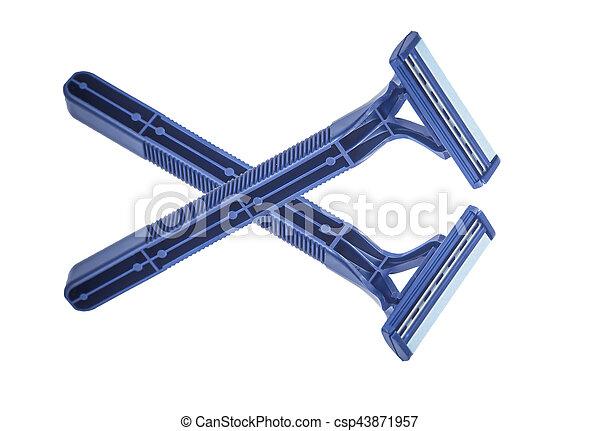 blue razor - csp43871957