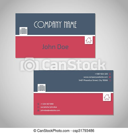Blue red business card with white stripe blue red color combo blue red business card with white stripe csp31793486 flashek Gallery