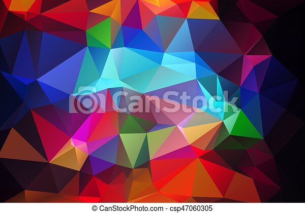 Blue Red Low Poly Background