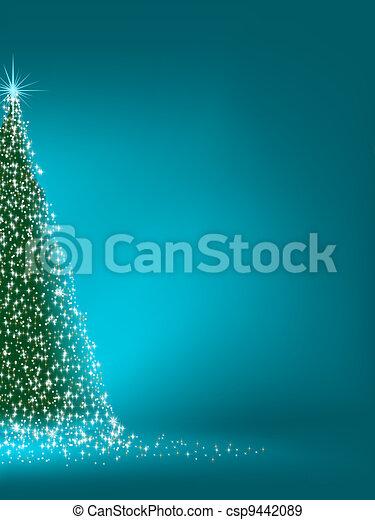 Abstracto árbol de Navidad verde en azul. EPS 8 - csp9442089