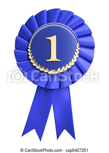 Blue ribbon award blank - csp5427251