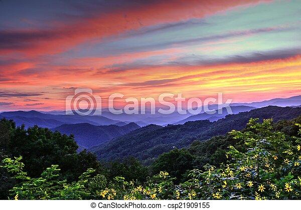Blue Ridge Mountain Color - csp21909155