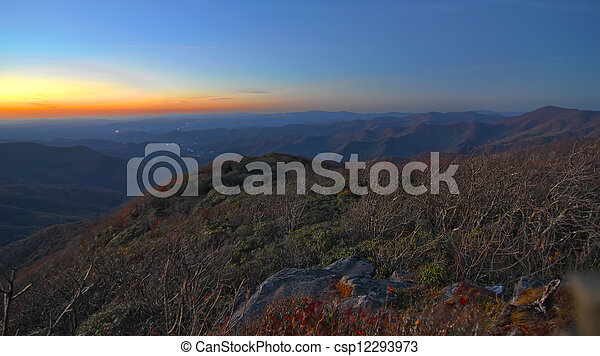blue ridge mountains north carolina - csp12293973