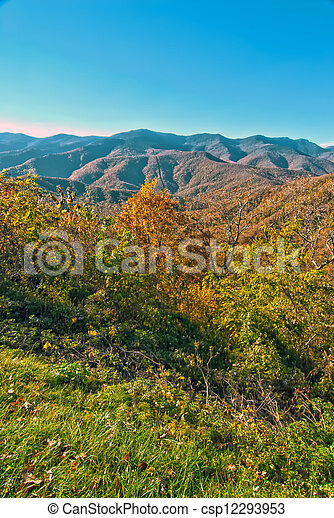 blue ridge mountains north carolina - csp12293953