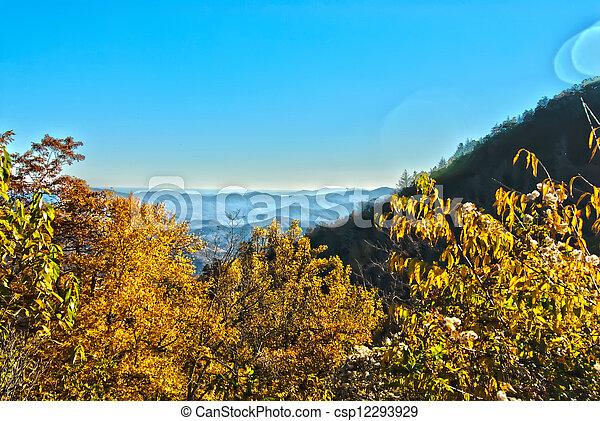 blue ridge mountains north carolina - csp12293929