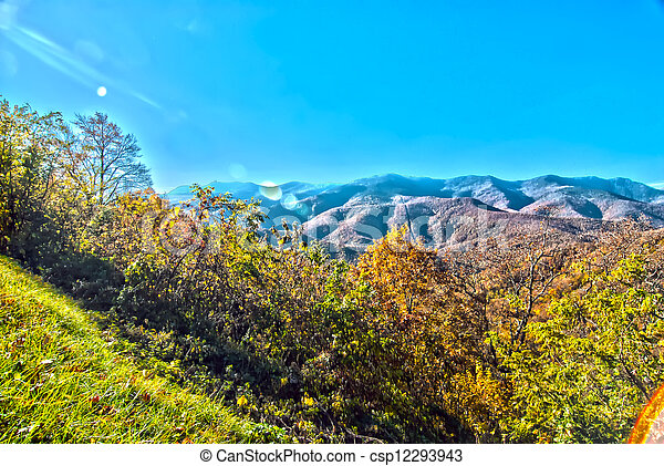 blue ridge mountains north carolina - csp12293943
