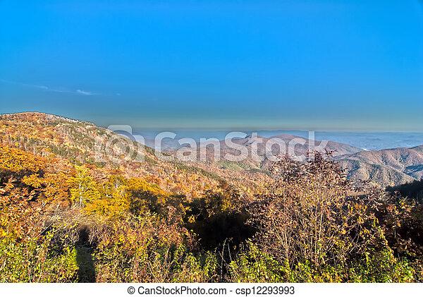 blue ridge mountains north carolina - csp12293993
