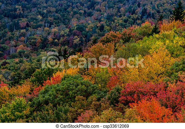Blue Ridge Mountains Pop With Fall Colors