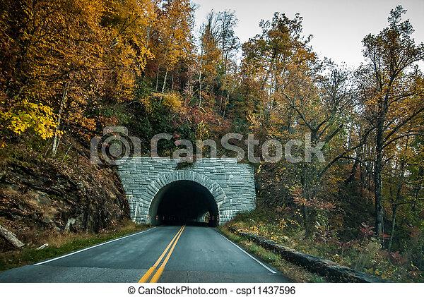 blue ridge mountains tunnel - csp11437596