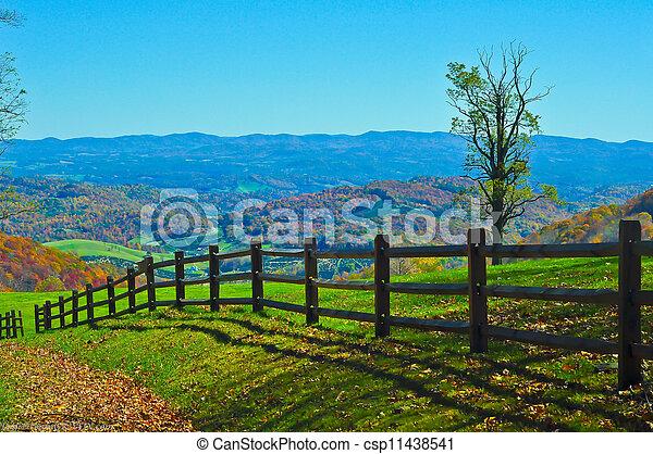 blue ridge mountains virginia - csp11438541