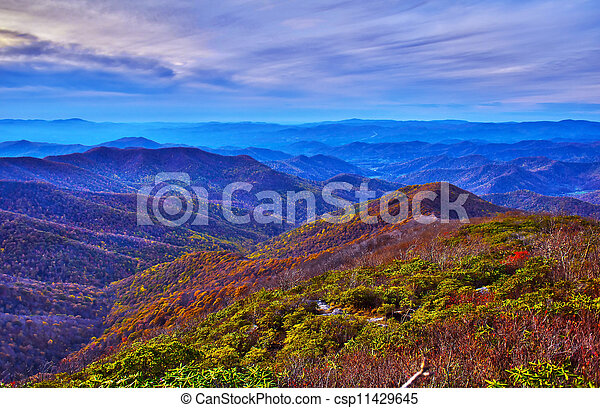 blue ridge parkway - csp11429645