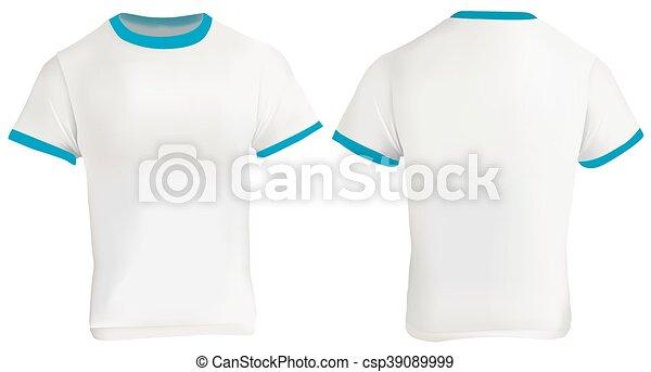 vector illustration of blank men blue ringer t shirt eps vectors search clip art. Black Bedroom Furniture Sets. Home Design Ideas