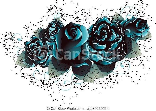 Blue Roses - csp30289214